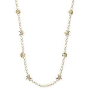 Charter Club Gold-Tone Pearl Sea Long Necklace